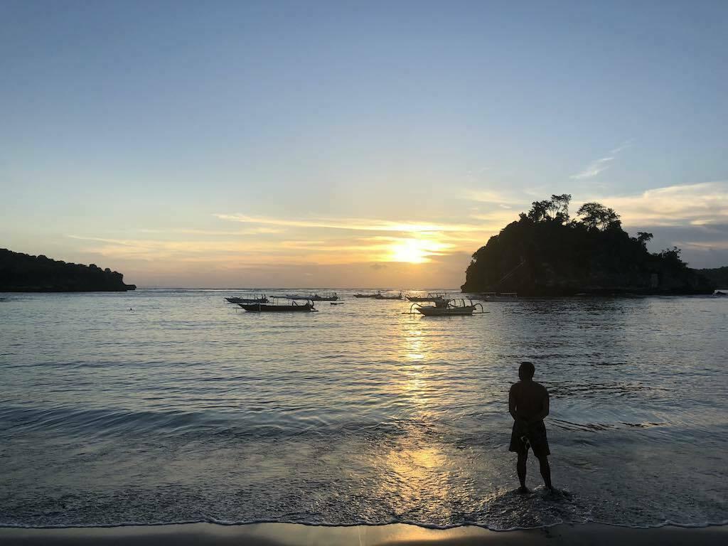 Crystal Bay Nusa Penida Bali Sunset