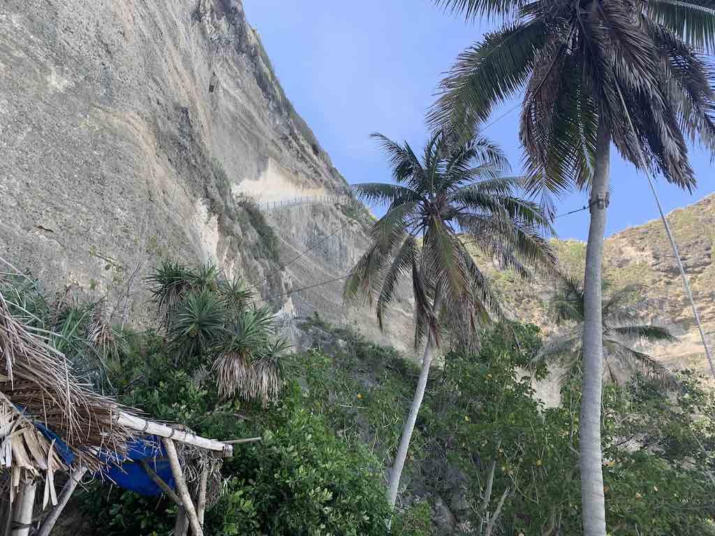 Diamond Beach cliff Nusa Penida Bali