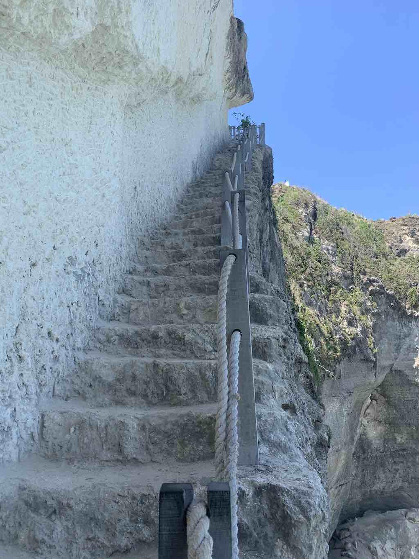 Diamond Beach staircase Nusa Penida Bali