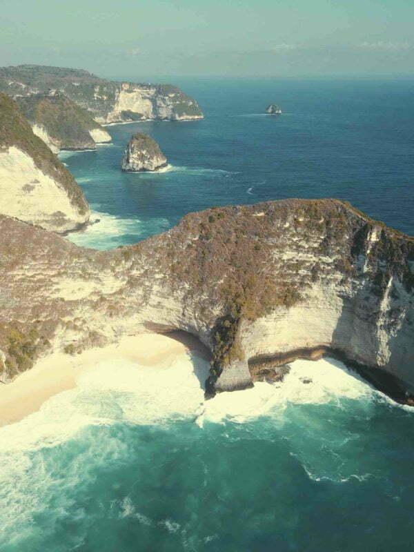 Pantai Kelingking Beach Nusa Penida Bali Drone view