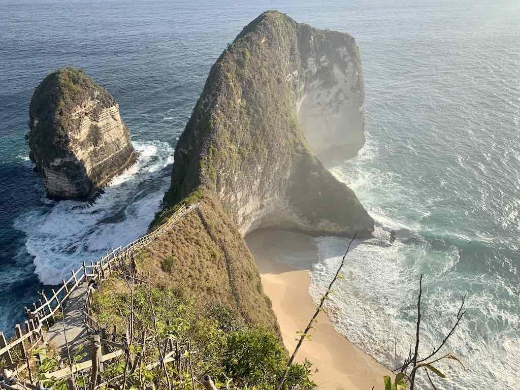 Staircase to Kelingking Beach Nusa Penida Bali