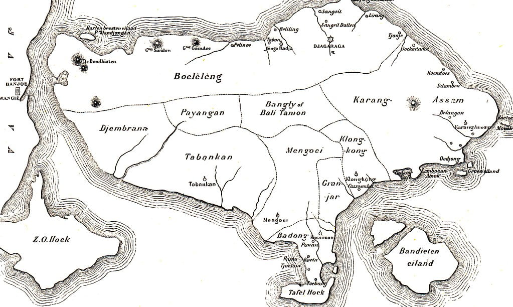 Bali map in 1900 History of Nusa Penida Kingdom
