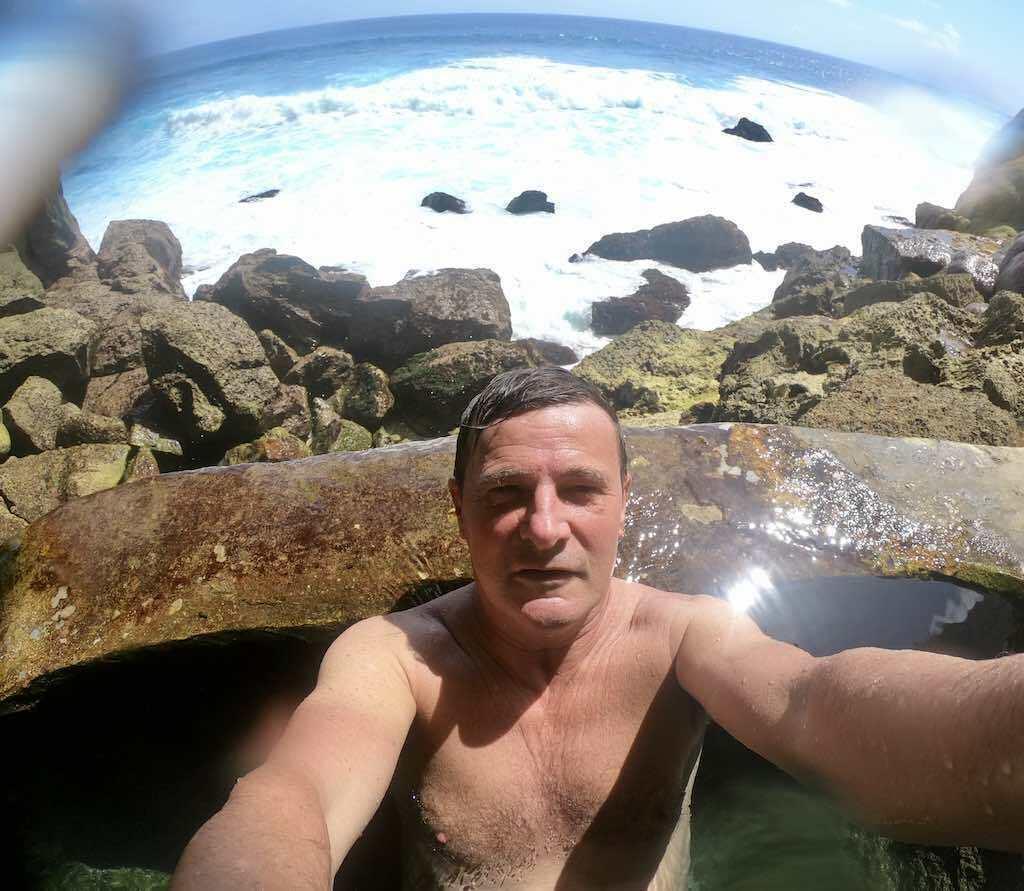 Kolam air terjun Guyangan Nusa Penida Bali