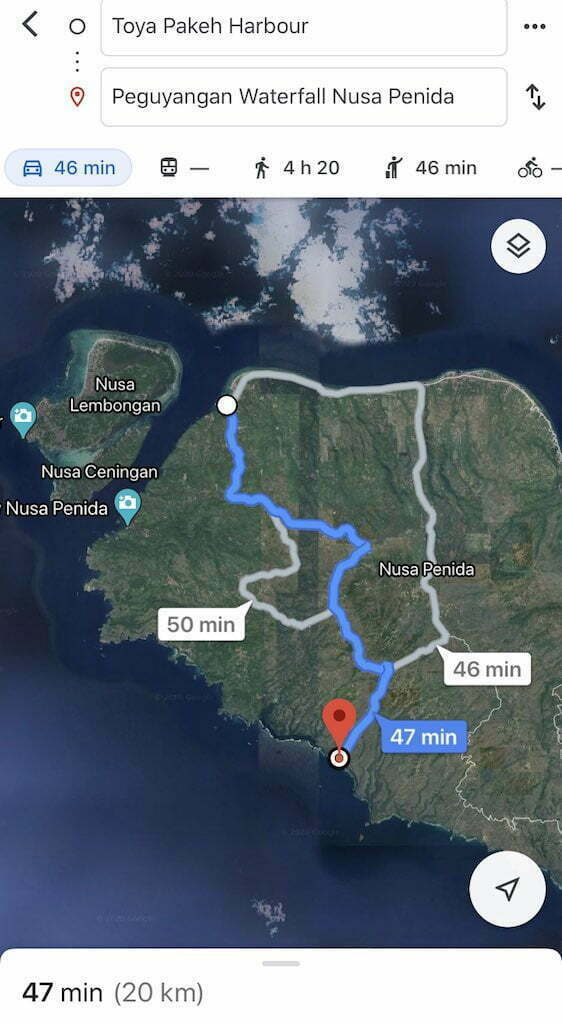 How to get to Guyangan Waterfall Nusa Penida Bali