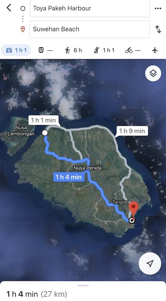 How to get to Suwehan Beach Nusa Penida Bali