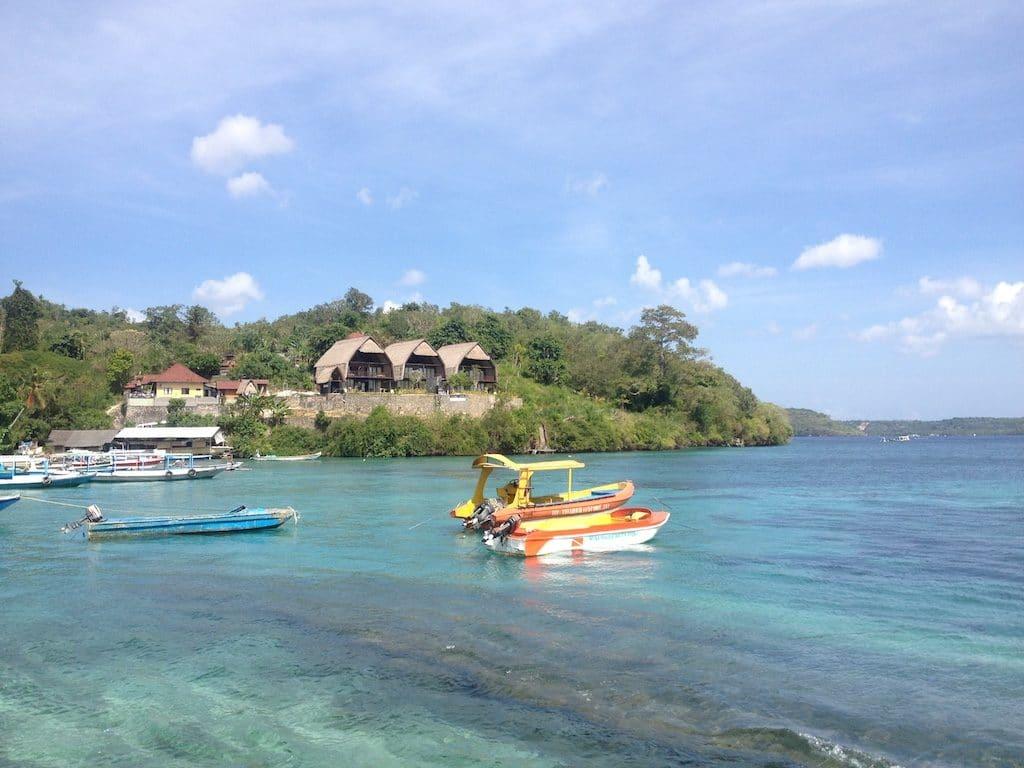 Toyapakeh harbour Nusa Penida
