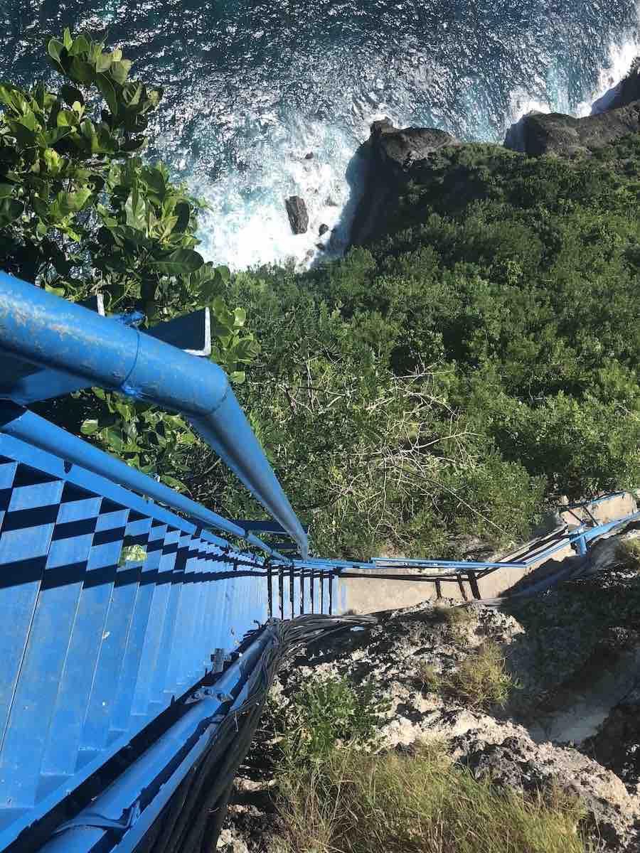 Guyangan staircase Peguyangan waterfall Nusa Penida