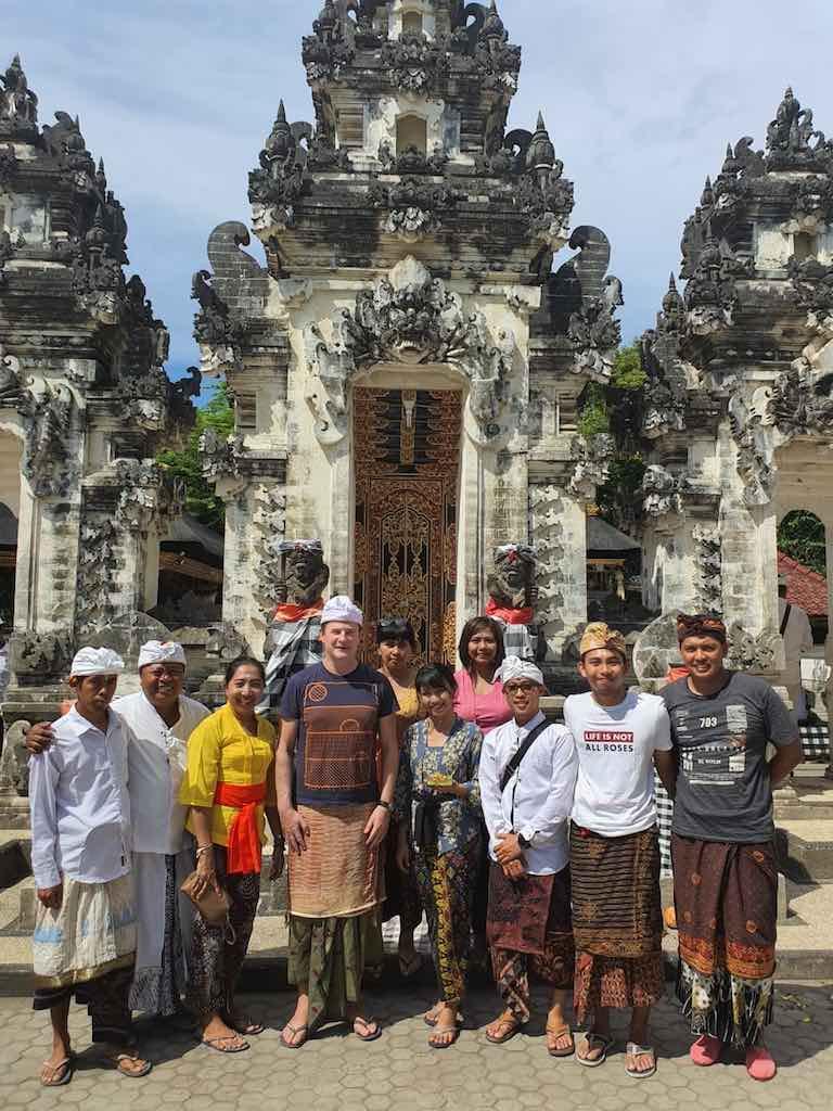 Holy water Pura Dalem Ped History of Nusa Penida Bali