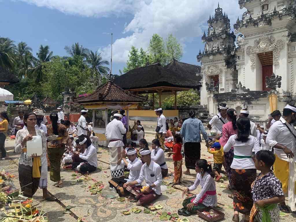 Galungan ceremony Ped temple Nusa Penida Bali