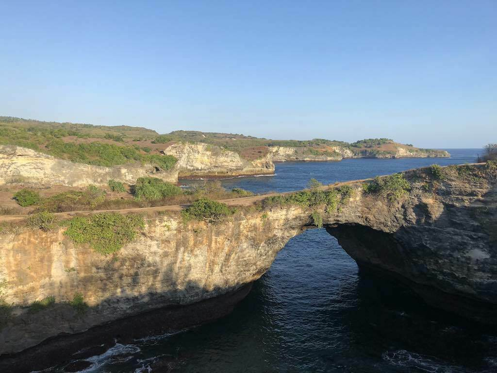 Broken Beach Nusa Penida Bali late afternoon