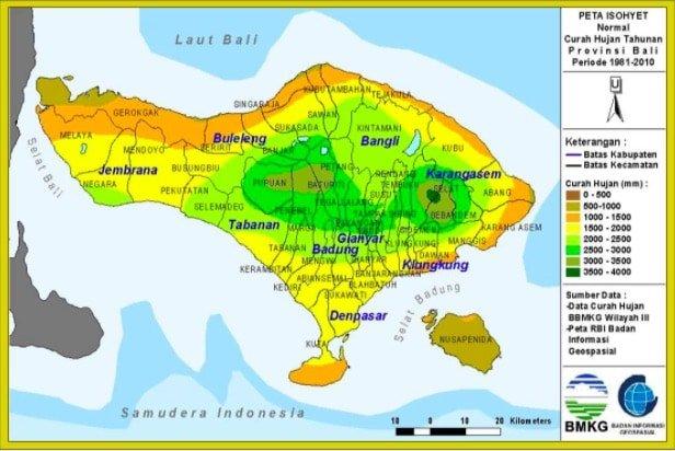 Annual Rain in Bali