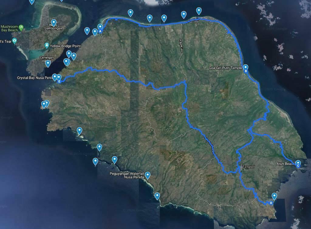 Itineraries Nusa Penida Bali