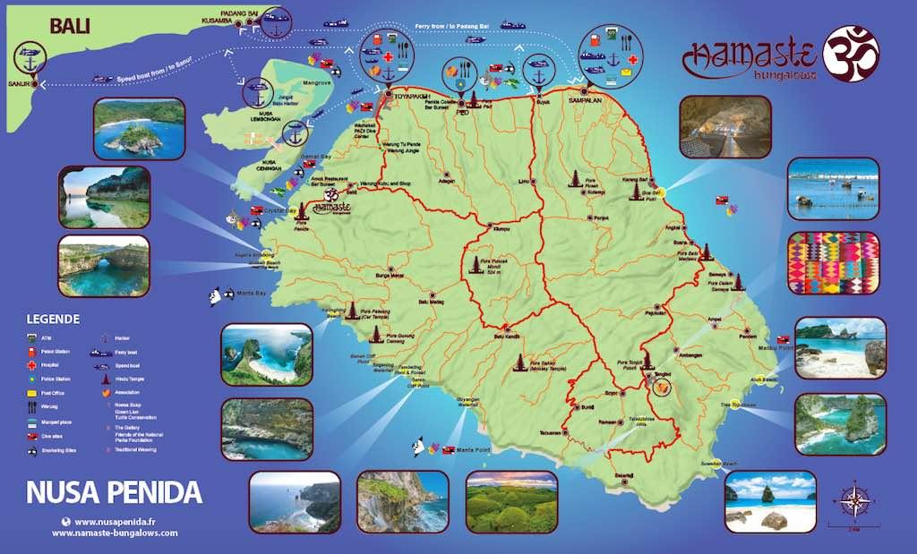 Map Nusa Penida Bali