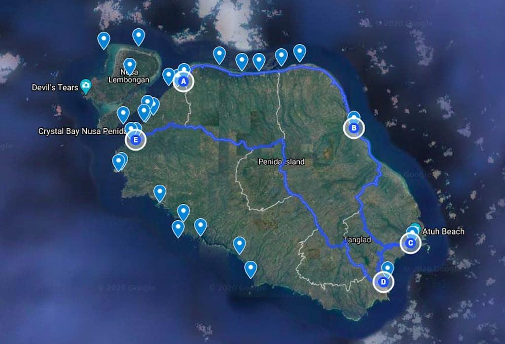 Rencana Perjalanan 1 Nusa Penida Bali
