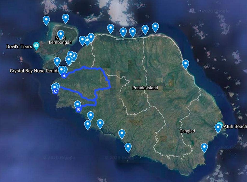 Rencana Perjalanan 3 Nusa Penida Bali