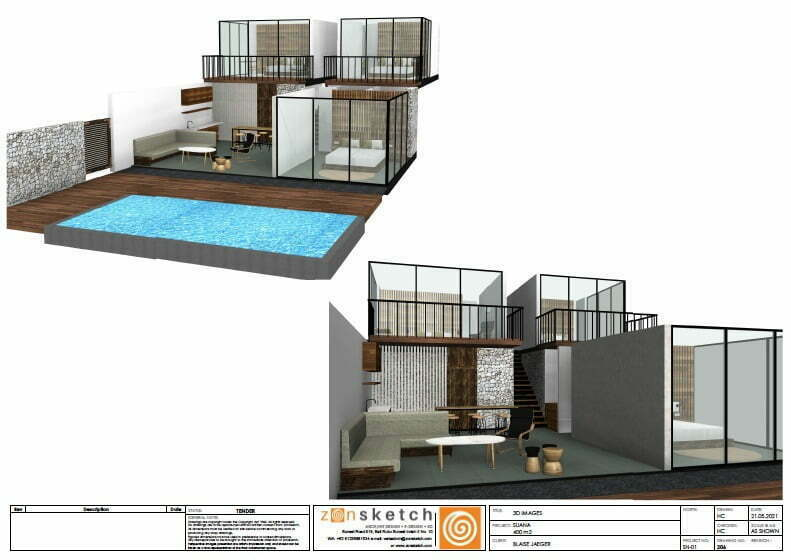3D villa 3 bedrooms land for sale Nusa Penida