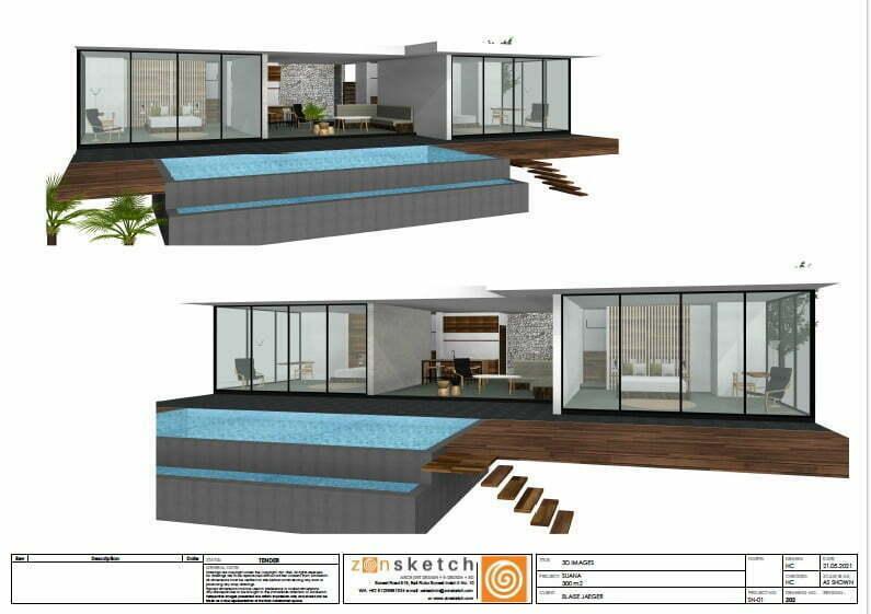 3D vila 2 kamar tanah dijual Suana Nusa Penida