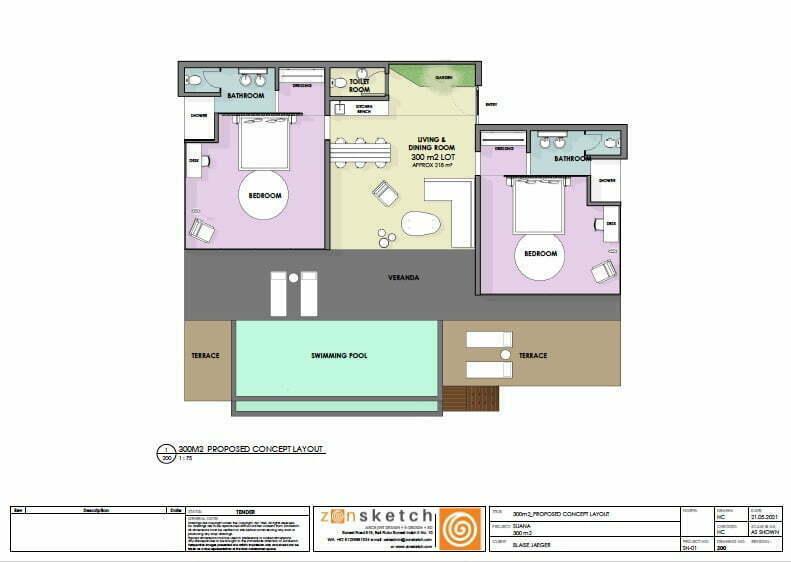 Drawing villa for sale 2 bedroom suana nusa penida
